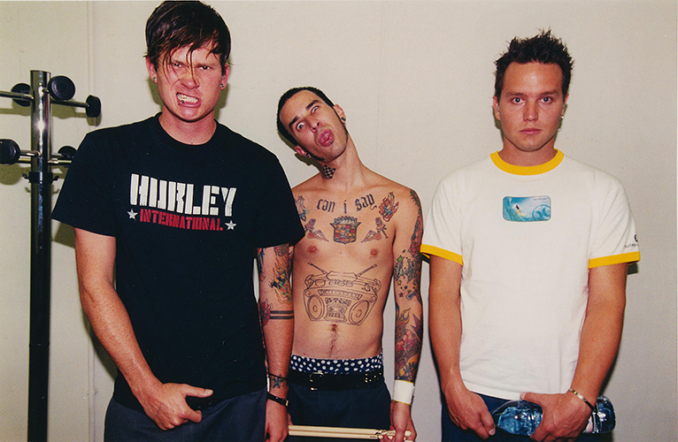 Blink 182 backstage in SlovakiaPhoto by Mark Allan