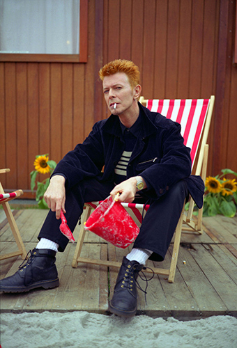 David Bowie backstage at the Roskilda FestivalPhoto by Mark Allan