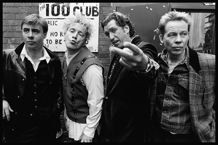 The Sex Pistols reforn in 1996 for the 'Filthy Lucre Tour' Photo by Mark Allan