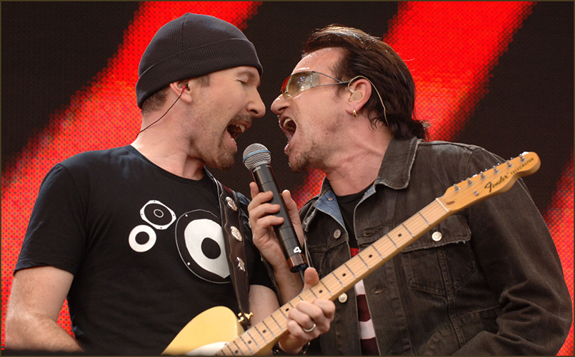 U2 at Live8Photo by Mark Allan