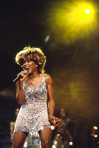 Tina Turner at the Ajax Stadium, Amsterdam on 7 Sept. 1996Photo by Mark Allan