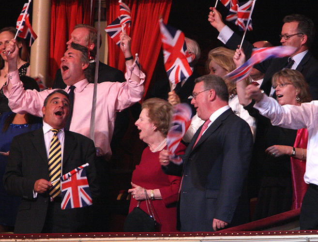 Margaret Tatcher attends Last Night of the Proms