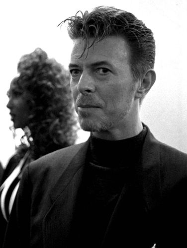 David Bowie with wife ImanPhoto by Mark Allan