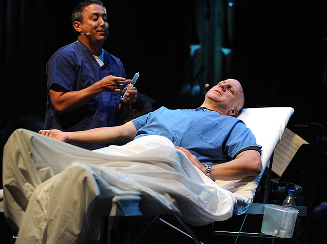 Angels in America – dress rehearsal at the BarbicanPhoto by Mark Allan